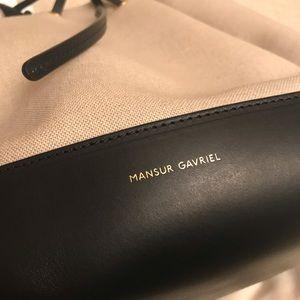 c000da69e85 Mansur Gavriel Bags - Mansur Gavriel Creme and Black Canvas Bucket Bag